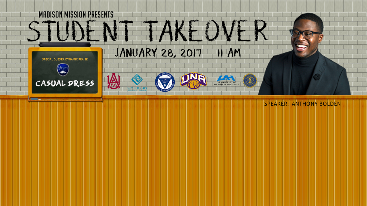 Student Take Over Jan 28th